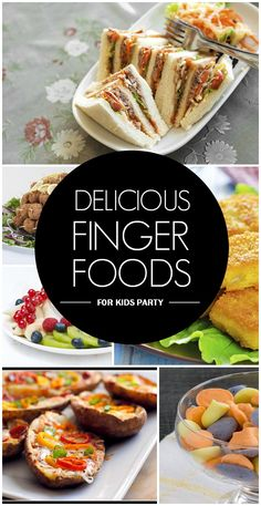 Delicious Finger Foods: You are smart in choosing finger foods as the main fare for your party, because kids just love them.Here we've listed the 10 best finger foods you could prepare in the comfort of your kitchen that the kids will love… plus, they're healthy too.