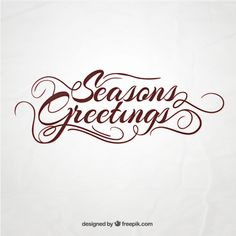 Seasons Greetings Free Vector