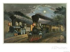 """Vintage 15"""" x 11.75"""" Currier and Ives Quality Print # 20, Suitable for Framing #Vintage"""