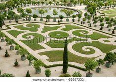 Famous Gardens Near Palace Versaillesnext To Paris, France Stock ...