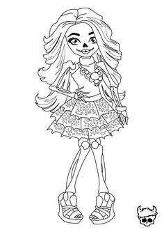 Monster High Skelita Coloring