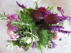 roses and herbs at home