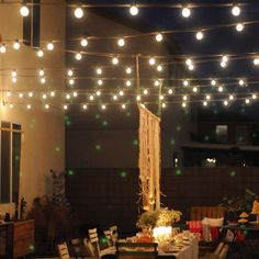 string lights eclectic houzz holiday contest a pretty backyard dinner party