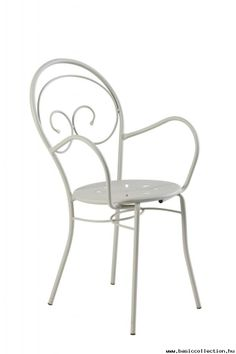 Basic Collection, Mimmo #outdoorarmchair #metalarmchair #whitearmchair #metalchair