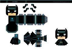 Blog Paper Toy Batman Mini papertoy template preview Batman mini papertoy de Gus Santome