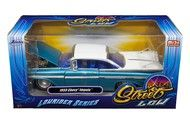 1959 Chevrolet Impala Blue & White Lowrider 1/24 Diecast Car Model By Jada 98923