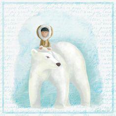 Polar bear by Céline Vivier, via Behance Winter Snow, Winter White, Celine, Winter Illustration, Arctic Circle, Art For Kids, Whale, Polar Bears, Art Director