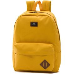 Vans Old Skool Backpack ($35) ❤ liked on Polyvore featuring men's fashion, men's bags, men's backpacks and yellow