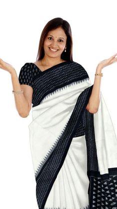 All are fine quality merceraized ikkat cotton sarees with blouse. Phulkari Saree, Kasavu Saree, Ikkat Saree, Black And White Saree, Bandhini Saree, Velvet Saree, Elegant Fashion Wear, Traditional Sarees, Cotton Saree