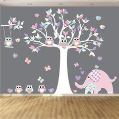 Elephant Wall Decal Nursery Wall Decal Play by wallartdesign