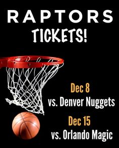 $15 and Up for a Ticket to the Toronto Raptors vs. Denver Nuggets on December 8 OR Orlando Magic on December 15 at the ACC Denver Nuggets, Orlando Magic, Toronto Raptors, Best Deals Online, Haifa, Ticket, Coupons, Sports, December