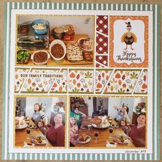 Scrapbook Pages, Scrapbooking Ideas, Scrapbook Layouts, November 2015, Family Traditions, Happy Thanksgiving, I Am Happy, Traditional, Fall