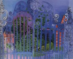yama-bato:    Raoul Dufy - La Grille, 1930, Evelyn Sharp Collection, New York.  http://thebluelantern.blogspot.ro/