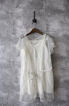InJapan.ru — Par Avion... ... вышивка многослойный платье... ONE — просмотр лота