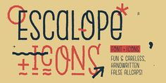 Check out the Escalope font at Fontspring. Escalope is a hand-drawn layered font with a crazy & unique personality: the low midline, the false-AllCaps style, all the fun & playfull Stylistic Sets will give your projects a new and fresh look!