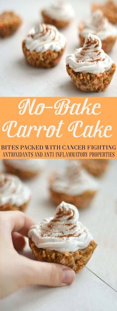 No-Bake Carrot Cake Bites Packed with Cancer Fighting Antioxidants and Anti-inflammatory Properties