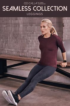 The CALIA by Carrie Underwood seamless leggings will soon be your favorite too. With a detailed pattern down the side and stretchy waistband, you won't want to take these off. Carrie Underwood Workout Clothes, Carrie Underwood Calia, Carrie Underwood Pictures, Jordan Shoes For Women, Calia By Carrie, Fitness Fashion, Fitness Gear, Womens Workout Outfits, Seamless Leggings