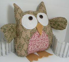 Free Owl Pattern | Cute stuff by Shirley: Stampin' Up Fabric Owls for Winter Christmas ...