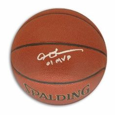 Allen Iverson Signed Indoor-Outdoor NBA Basketball - 01 MVP