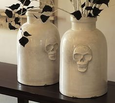 Skull Ceramic Vase | Pottery Barn... behh... :$ Whatever, I'll take what I can get! This is too fucking great!