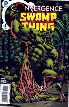 Convergence Swamp Thing #1 Regular Kelley Jones Cover And Pencils (2015) DC Comics. Len Wein Story. The dome has cut off all the heroes from their powers - but what happens when Swamp Thing is cut off from his life source in The Green?