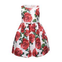 Monnalisa - Abito Bambina Con Rose - annameglio.com shop online - Abito  bianco con fe73bd7d07b