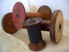 Old Industrial Wooden Spools (40s Zen)