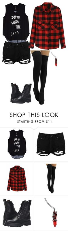 """Julia"" by julia-gyure ❤ liked on Polyvore featuring Melissa McCarthy Seven7, Boohoo, Frye, emo, Punk, band, goth, IDONTCARE and plus size clothing"