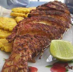 pescado frito, the best! Haitian Food Recipes, Fish Recipes, Seafood Recipes, Mexican Food Recipes, Cooking Recipes, Haitian Fish Recipe, Donut Recipes, Comida Latina, Hatian Food