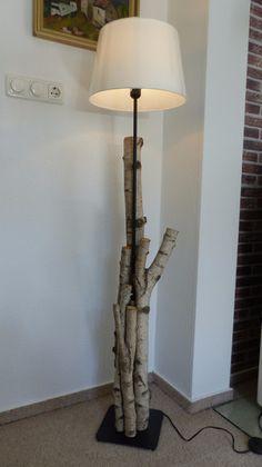 Stehlampe,+Fuß+aus+Birkenholz+natur+von+Fast+ALLES+AUS+HOLZ+auf+DaWanda.com