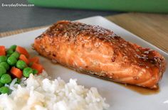 Prep and bake a delicious dinner in just 30 minutes! Sesame garlic baked salmon is fast and flavorful!