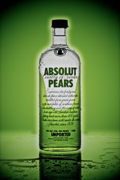 Product Photography / Absolut Pears Green  Back / © Ricardo Seco