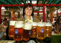 Octoberfest-Munich,Germany.As you can tell, not your average mug of beer. And the beer is GOOD!