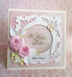 Kolorowa Utopia Strzyżyka: Delikatna kartka ślubna