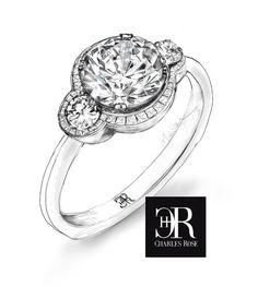 Sketch study for triple circle setting.  Featuring channel set tapered baguettes, this high finish design is a prototype study. We are Australia's premier diamond designers. Visit us today to express your ideas - we will help you refine them into your unique expression, like love itself. #unique #diamonds #sketch