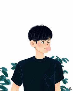 64 Ideas Cute Art Drawings Animals Anime Characters For 2019 Animal Drawings, Cute Drawings, Drawing Animals, Character Art, Character Design, Boy Drawing, Sketch Drawing, Nct, Korean Boy