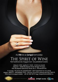 Its amazing how clever this is...Wine & Spirit festival poster. Totally has sex appeal but it is awesome how they did this! I love the image, but I am not to crazy on the font for some weird reason. It reminds me of something other than a wine festival....