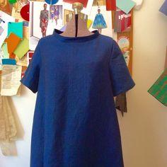 Today's linen dress a Merchant and Mills trapeze dress pattern