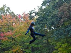 Michigan's zip lines, adventure parks are a colorful way to see fall from the top down. Here's are a few ideas of where you should go.