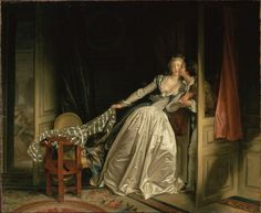 The Stolen Kiss by Jean-Honoré Fragonard - and the painting of this gown..... just simply amazing....
