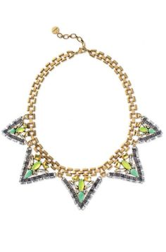 Fans of chunky necklaces will adore this green statement necklace for a color pop! Discover more unique jewelry & gold jewelry with a twist from Stella & Dot.