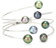TARA Pearls Tahitian 8x11mm Pearl Bangle Bracelet -