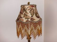Autumn Leaf Lampshade with Glass Bead Fringe by AnnaHandmade