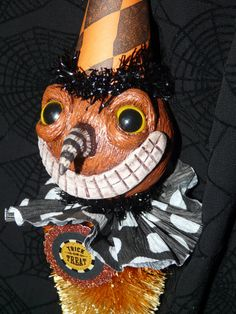 Vintage Halloween Inspired Bottlebrush Jack by ThePatchworkAttic, $38.00