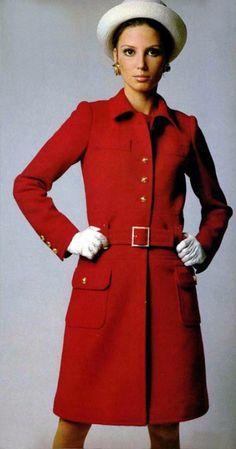 Model Evelyn Kuhn in Yves Saint Laurent, 1968