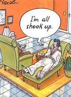 Humour Therapy - Enlighten up & live with more health, happiness, meaning… Funny Cartoons, Funny Comics, Funny Jokes, Lame Jokes, Cartoon Humor, Elvis Presley, Social Work Humor, Mental Health Humor, Therapy Humor