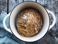 Eltefritt grytebrød - FAMILIEMATBLOGG Food And Drink, Snacks, Baking, Dinners, Dinner Parties, Bakken, Food Dinners, Bread, Backen