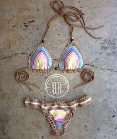 lollipop bikini custom crochet bikini by beijobaby on Etsy