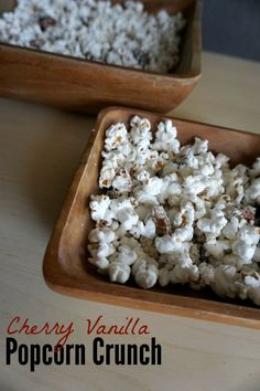 Today I'm going to show you a super simple way to jazz up your popcorn for an extra sweet treat, with this Cherry Vanilla Popcorn Crunch!