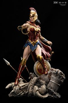 Made of cold-cast porcelain, the XM Studios Wonder Woman statue is meticulously crafted with incredible details. Get this DC: Rebirth figure at BBTS today. Comic Books Art, Comic Art, Marvel Dc, Comic Character, Character Design, Univers Dc, Arte Dc Comics, Anime Figures, Action Figures